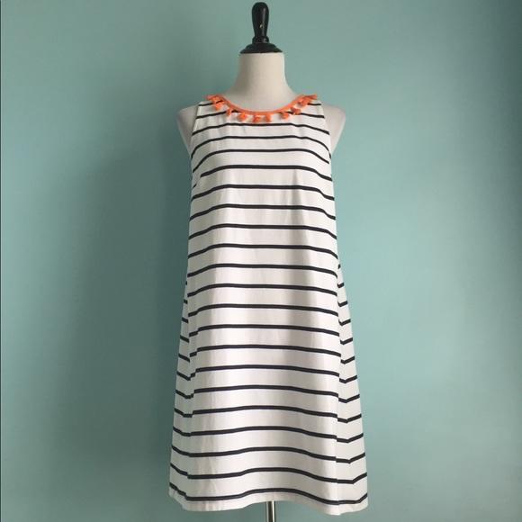 19bcf35641a5 crown & ivy Dresses & Skirts - Crown & Ivy White Navy Striped Tassle Swing  Dress